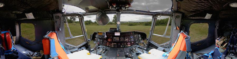 Visite virtuelle 360° hélicoptère Lynx Marine National Française