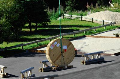 Tirage de cable par hélicoptère