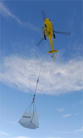Héliportage groupe compresseur, travaux aérien en montagne