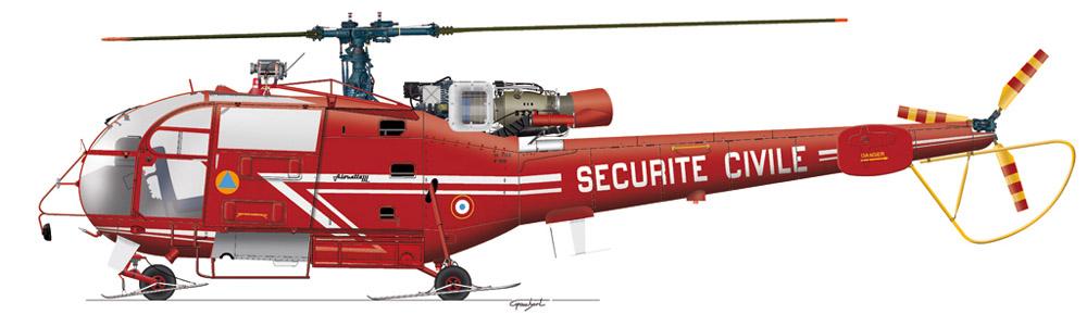 Alouette lll sécurité civile (c) GAUBERT