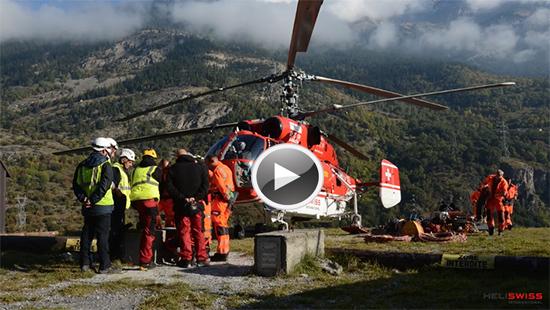 Levage et transport de charge par hélicoptère / Lien vidéo Montage d'une remontée mécanique par hélicoptère / garaventa dolpelmayr