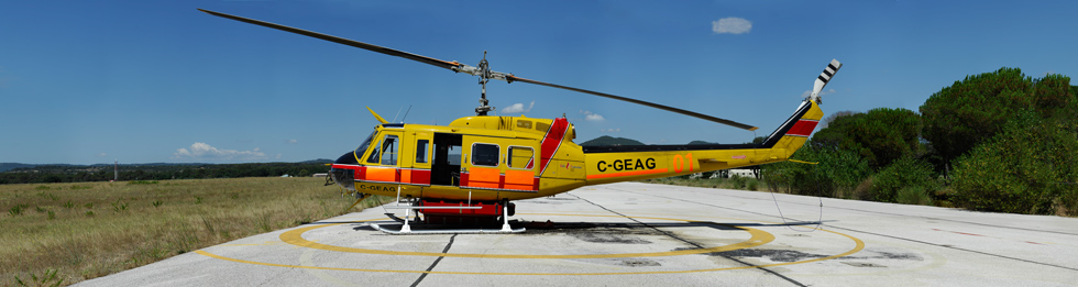 BELL205 A HBE Heliprotection base du luc en provence