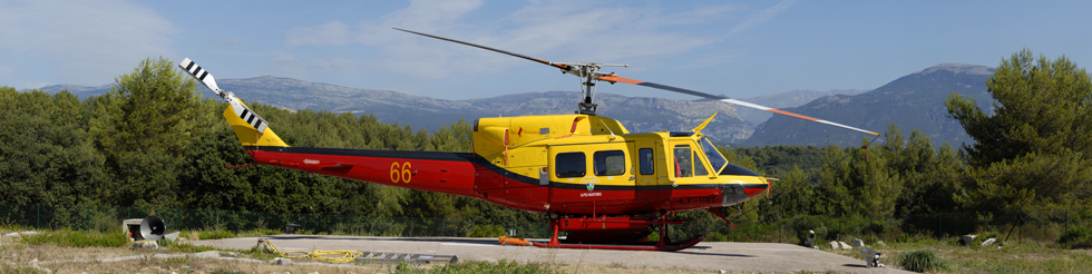 BELL 212 AM - LX-HML - Hélicoptère HBE Heliprotection base Sophia Antipolis NICE