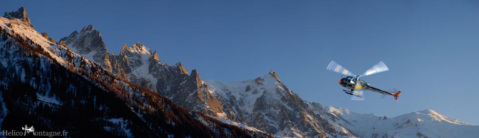 Ecureuil AS350 B3e CMBH massif du mont-blanc