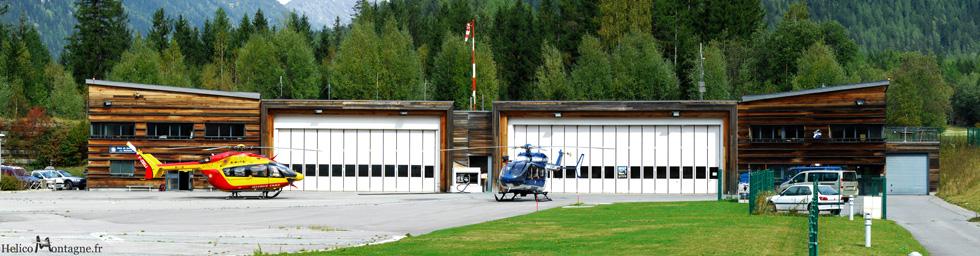 Secours en montagne de Chamonix - DZ des Bois - Base hélicoptères sécurité civile et Gendarmerie