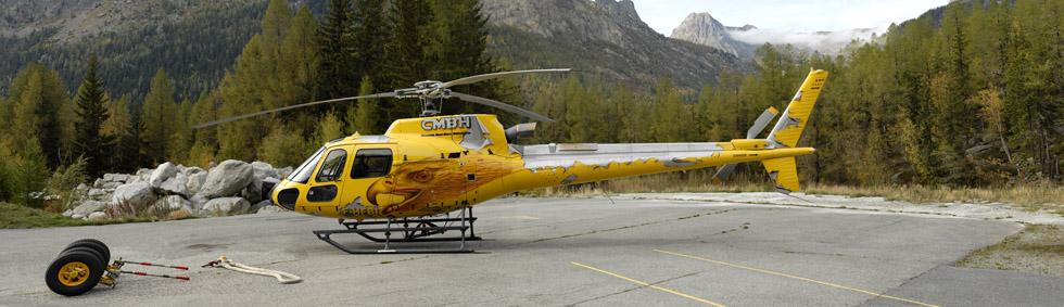 AS 350 B3+ F-HFBI CMBH photo hélicoptère posé à Argnetière 74