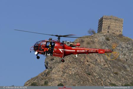 Préparation treuillage secouriste PGHM Alouette III