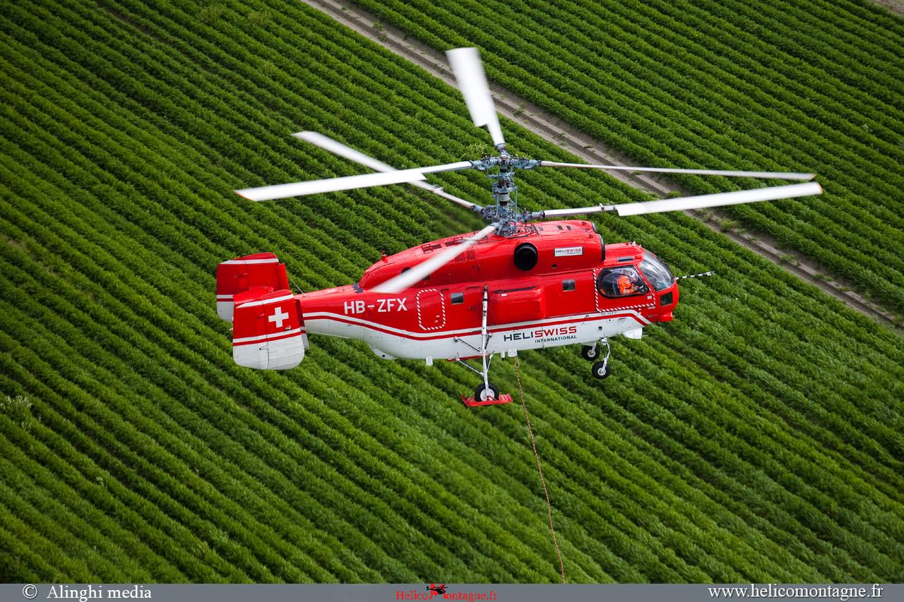Hélicoptère Kamov ka32 a12 levage de charge : clim, transformateur, pylone, rouleau cable, tour, rooftop, éolienne
