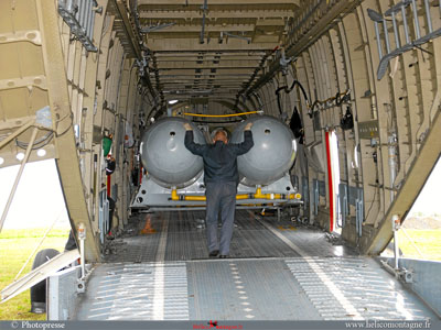 Additional tank Mil Mi 26 helicopter insight cargo