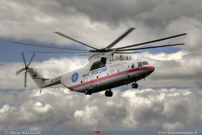 Arrivé du MIL MI 26 T Russe à Blécherette Lausanne